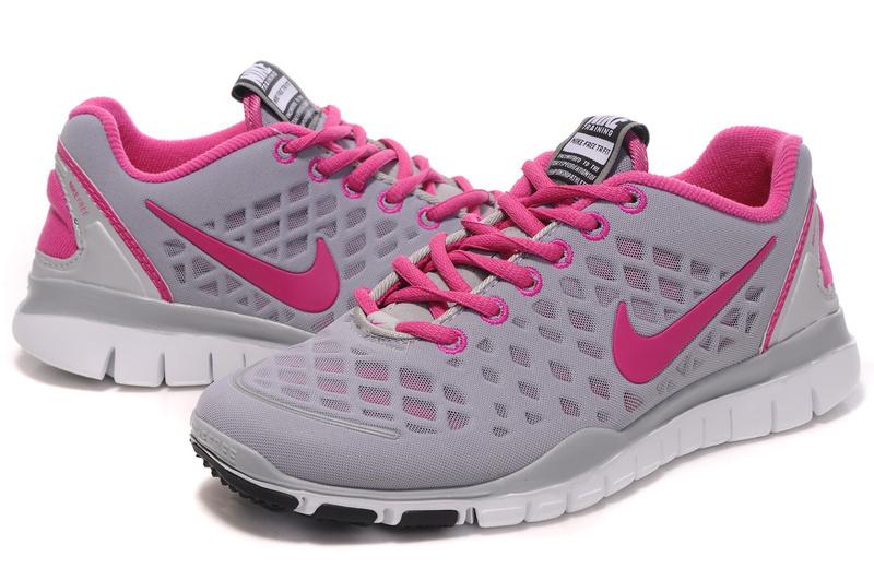 2012 Nike Free Run LiNa Traing Shoes Grey Pink White