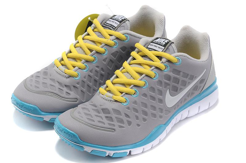 2012 Nike Free Run LiNa Traing Shoes Grey Yellow Blue White