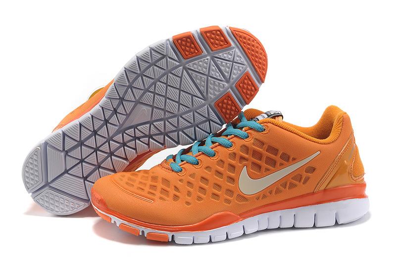 2012 Nike Free Run LiNa Traing Shoes Orange Blue White