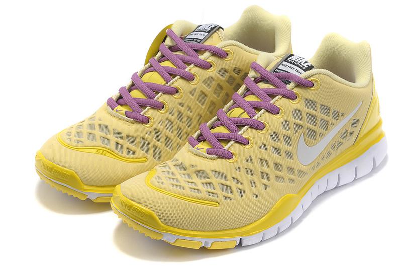 2012 Nike Free Run LiNa Traing Shoes Yellow Purple White