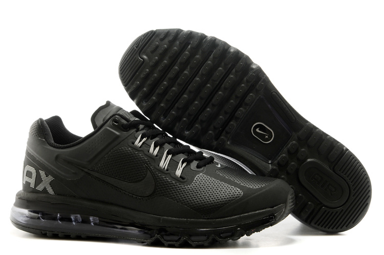 2013 Nike Air Max All Black Running Shoes