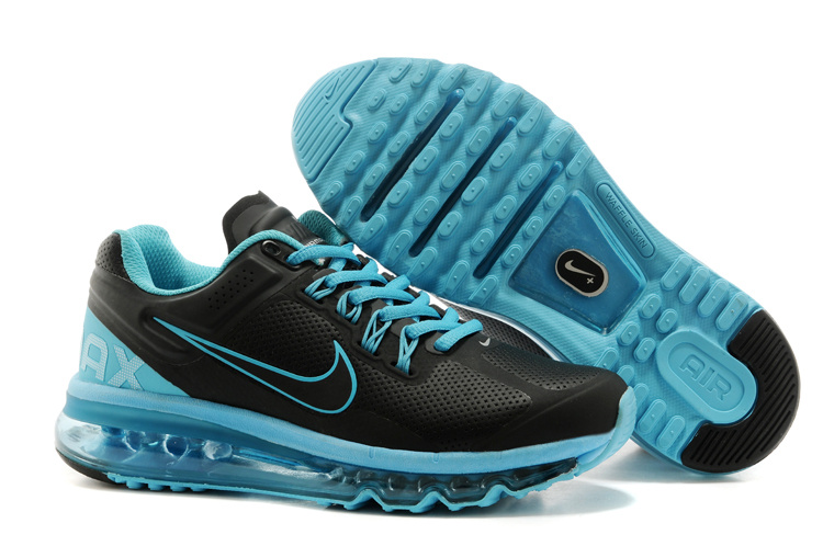 2013 Nike Air Max Black Blue Running Shoes For Women