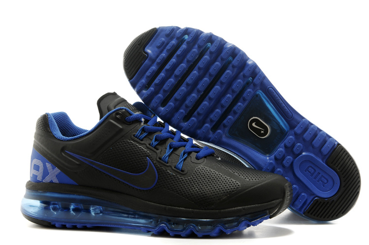 2013 Nike Air Max Black Blue Running Shoes