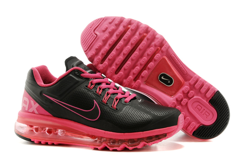 2013 Nike Air Max Black Pink Running Shoes For Women