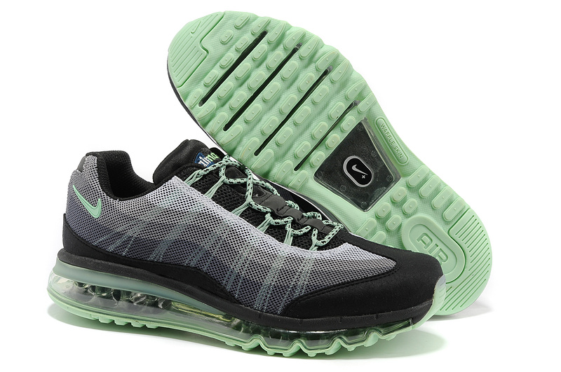 2013 Nike Air Max 95 Black Green Women Shoes