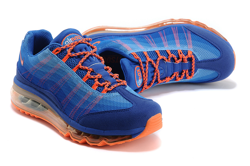 2013 Nike Air Max 95 Blue Orange Shoes