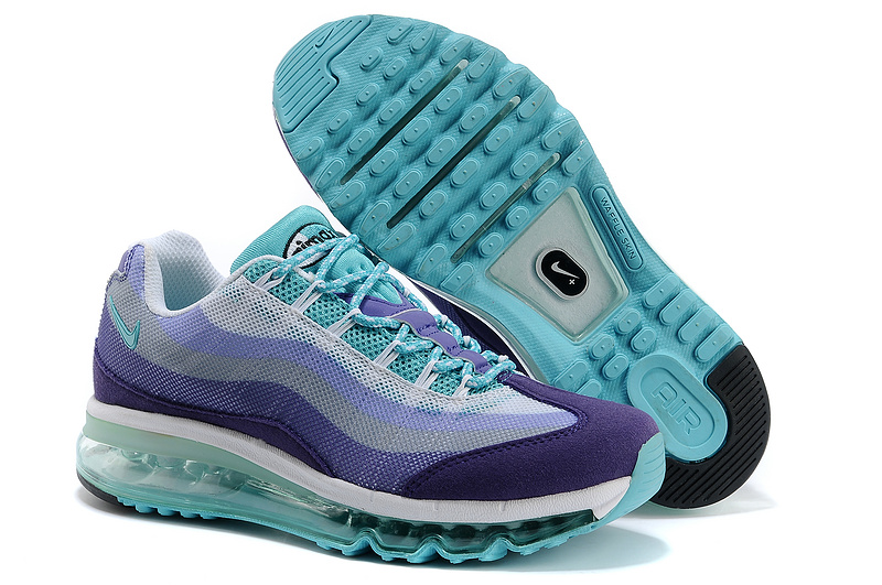 2013 Nike Air Max 95 Blue Purple Shoes For Women