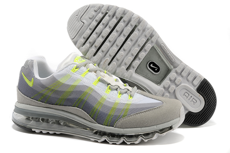 2013 Nike Air Max 95 Grey Flluorscent Shoes