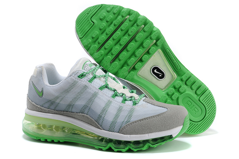 2013 Nike Air Max 95 Grey Green Shoes For Women