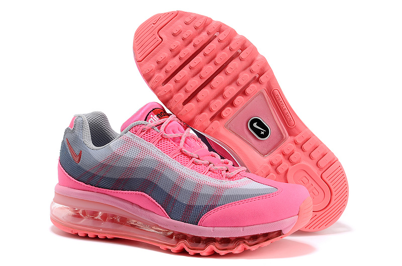 2013 Nike Air Max 95 Pink Grey Shoes For Women