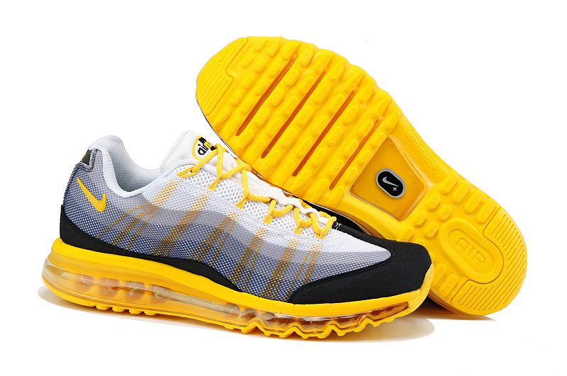 2013 Nike Air Max 95 White Black Yellow Shoes