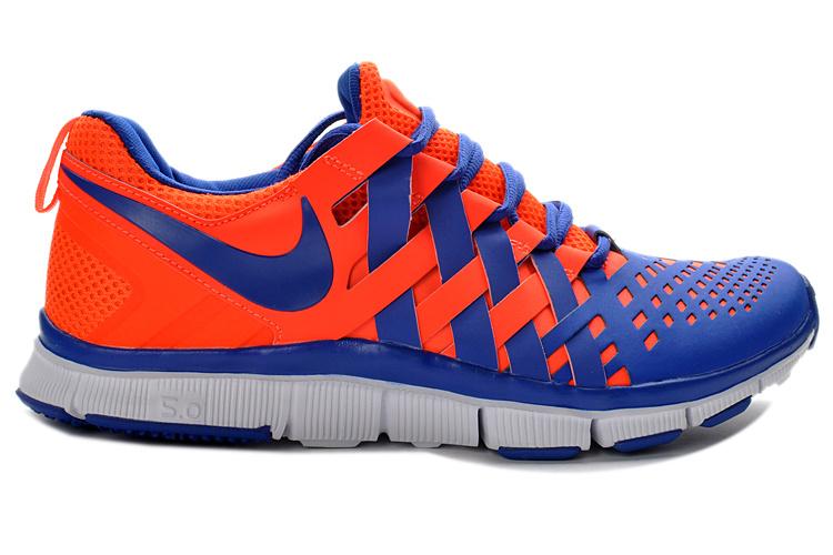 Classic Nike Free 5.0 Orange Blue Running Shoes