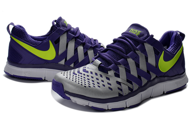 Classic Nike Free 5.0 Purple Grey Running Shoes