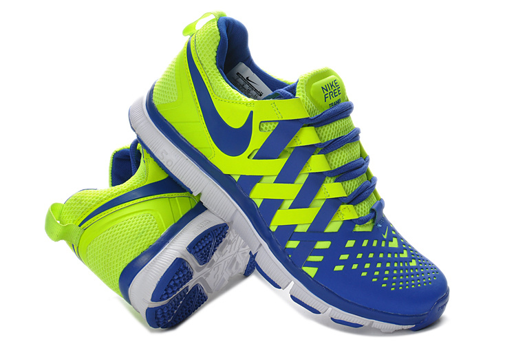 Classic Nike Free 5.0 Yellow Blue Running Shoes