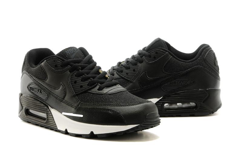2014 Nike Air Max 90 All Black Shoes