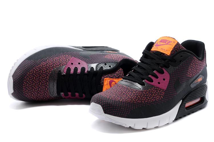 2014 Nike Air Max 90 Black Purple White Shoes