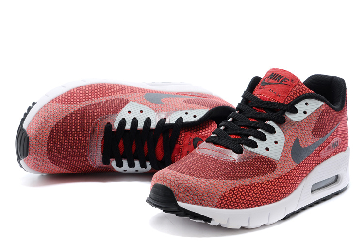 2014 Nike Air Max 90 Wine Red Black White Shoes