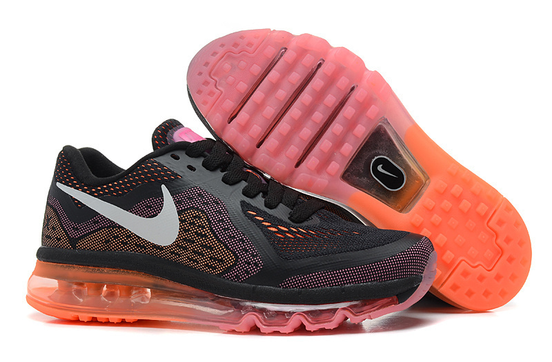 2014 Nike Air Max Cushion Black Orange For Women