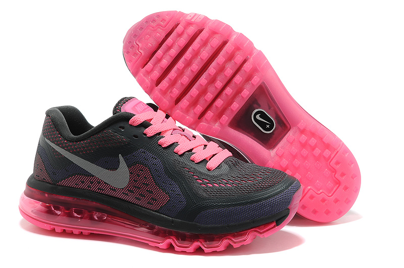 2014 Nike Air Max Cushion Black Pink For Women