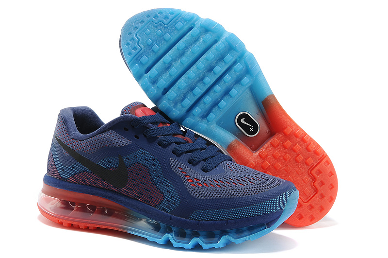 2014 Nike Air Max Cushion Blue Orange For Women