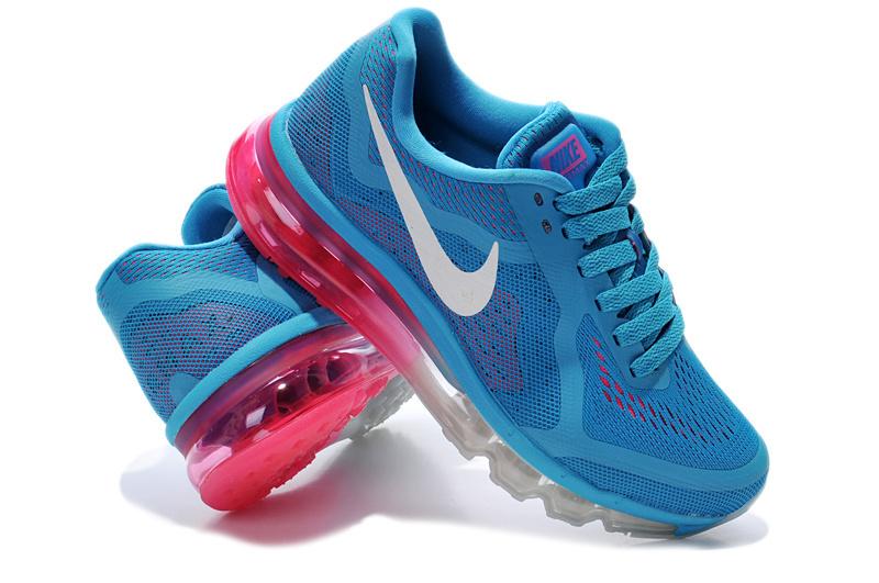 2014 Nike Air Max Cushion Blue White Pink For Women