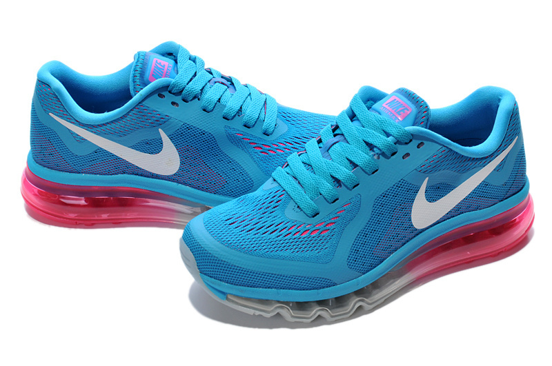 2014 Nike Air Max Cushion Blue White Pink For Women