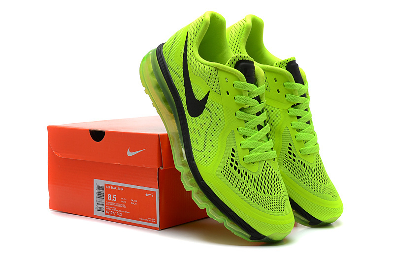 2014 Nike Air Max Cushion Green Black Lovers Shoes