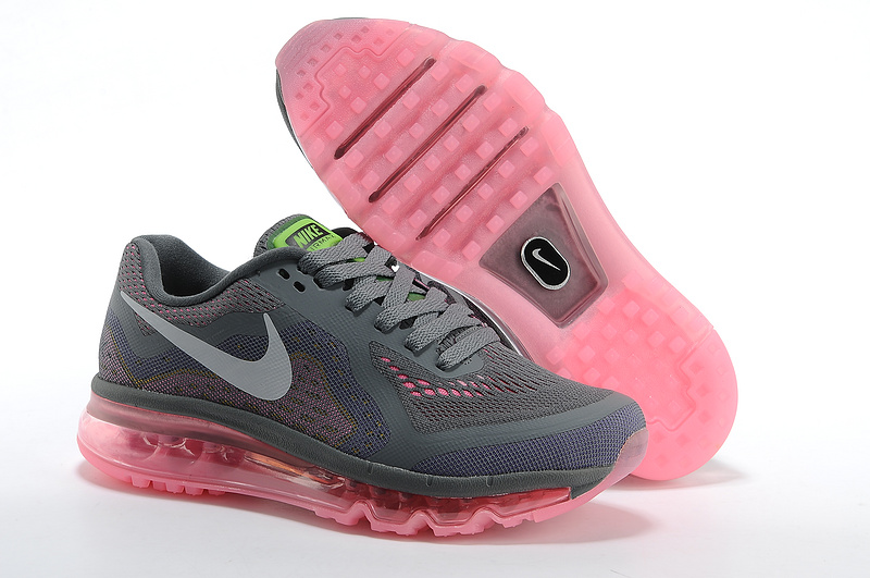 2014 Nike Air Max Cushion Grey Pink For Women