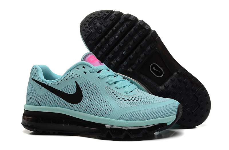 2014 Nike Air Max Cushion Light Green Black For Women