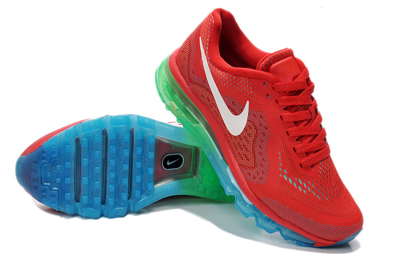 2014 Nike Air Max Cushion Red Blue Green For Women