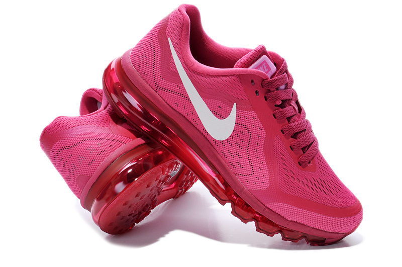 2014 Nike Air Max Cushion Wine Red For Women