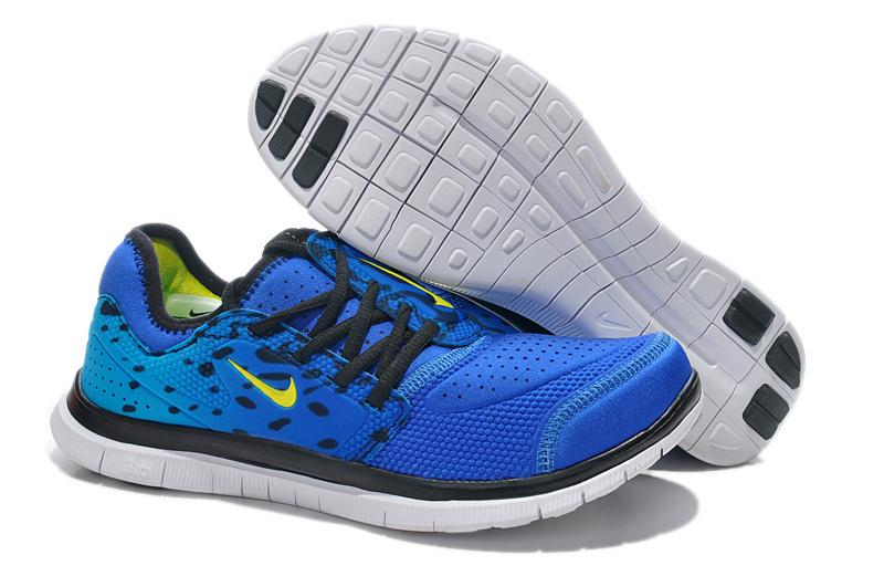 Nike Free Run 3.0 Shoes Blue Black