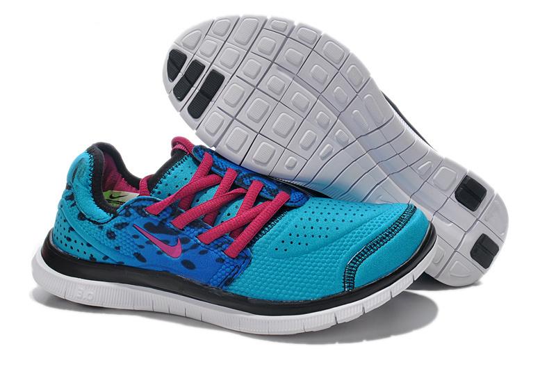 Nike Free Run 3.0 Shoes Blue Pink Black