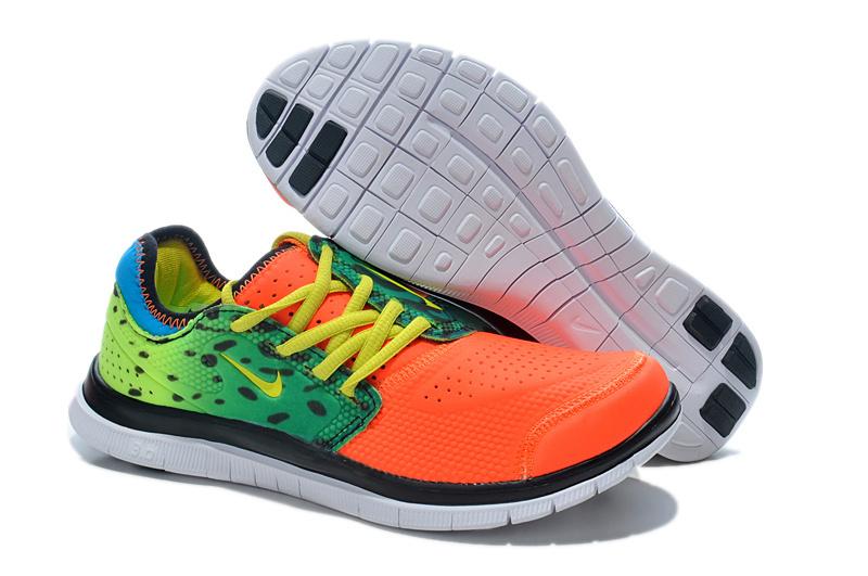 Nike Free Run 3.0 Shoes Orange Yellow Green
