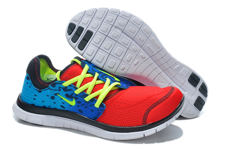 Nike Free Run 3.0 Shoes Red Blue Black Yellow