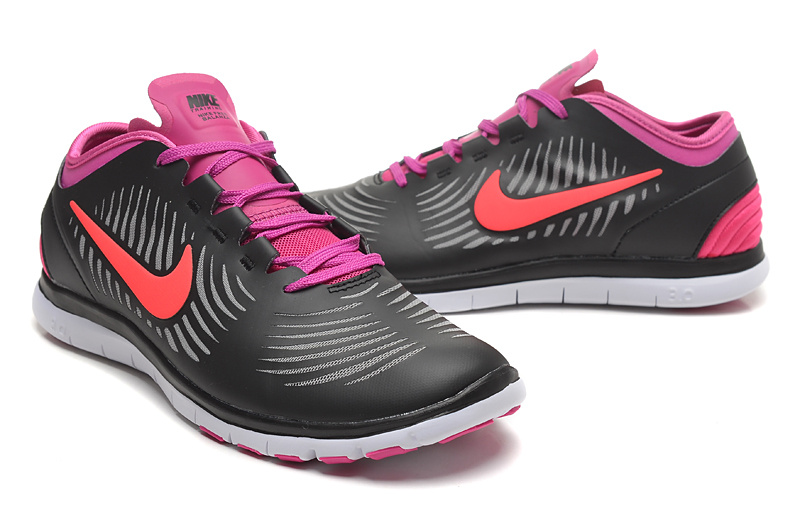 2014 WMNS Nike Free Balanza Black Pink Red Shoes For Women