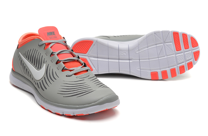 2014 WMNS Nike Free Balanza Grey Pink Shoes For Women