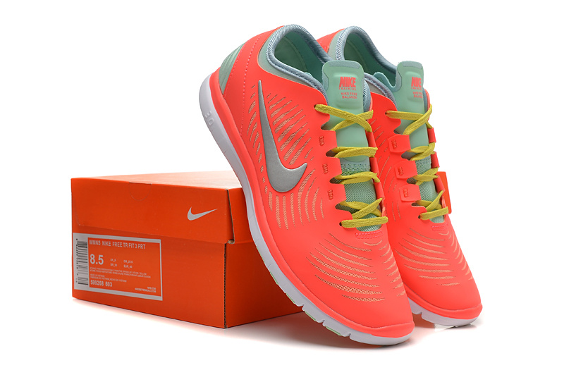2014 WMNS Nike Free Balanza Red Grey Yellow Shoes For Women