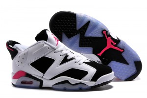 2015 Air Jordan 6 Low Fuchsia Flash White Black Sport Fuchsia