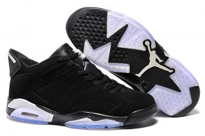 2015 Air Jordan 6 Retro Low Chrome Black Metallic Silver