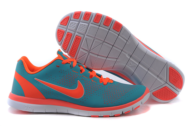 2015 Nike Free 3.0 Green Orange Running Shoes