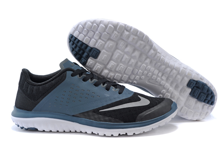 2015 Nike Free 5.0 V2 Black Blue Running Shoes