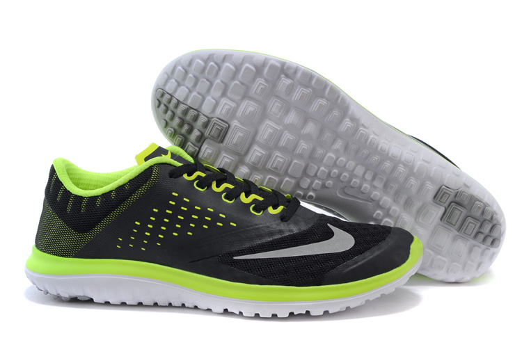2015 Nike Free 5.0 V2 Black Green Running Shoes