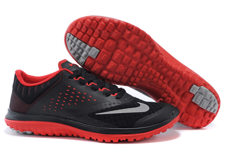 2015 Nike Free 5.0 V2 Black Red Running Shoes
