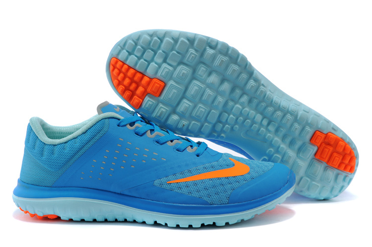 2015 Nike Free 5.0 V2 Blue Orange Running Shoes