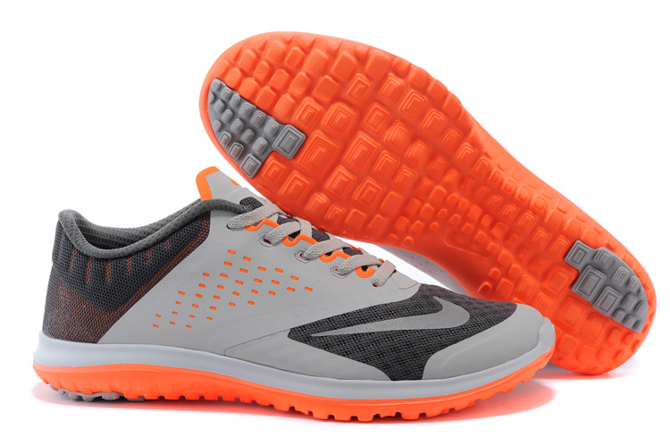2015 Nike Free 5.0 V2 Grey Black Orange Running Shoes