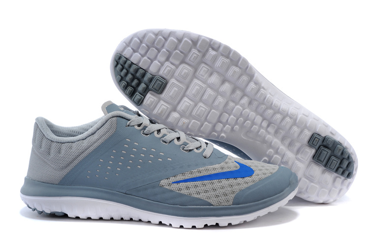 2015 Nike Free 5.0 V2 Grey Blue Running Shoes