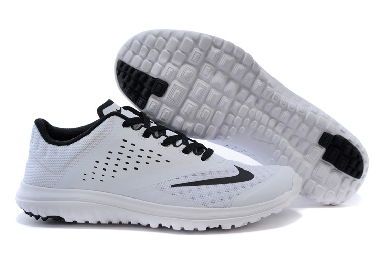2015 Nike Free 5.0 V2 White Black Running Shoes