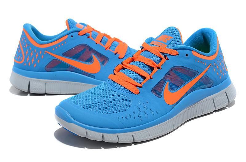 premium selection e5f21 d991d Trendy Nike Free Run 5.0 2 Bbay Blue Orange