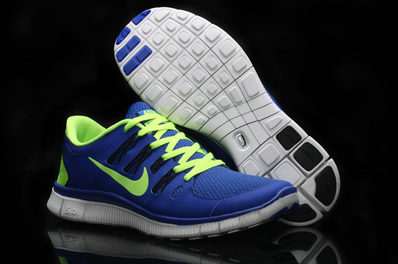 Trendy Nike Free Run 5.0 2 Blue Fluorscent Green